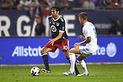 CHICAGO, IL - AUGUST 02: MLS All-Star Kaka controls the ball against Real Madrid midfielder Toni Kroos (8) in the first half during a soccer match between the MLS All-Stars and Real Madrid on August 2, 2017, at Soldier Field, in Chicago, IL. (Photo by Patrick Gorski/Icon Sportswire)