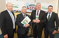 J Tommy Kelly FBD, Prof Gerry Boyle Director Teagasc , Minister Tom Hayes,  Dermot Campion, Germinal at the launch of Sheep2015 to be held on Saturday the 20th of June 2015 at the Mellows Campus in Athenry Co. Galway.<br />  Photo by Andrews Downes XPOSURE