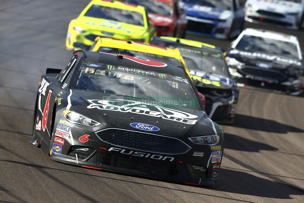 March 11, 2018 - Avondale, Arizona, United States of America - March 11, 2018 - Avondale, Arizona, USA: Trevor Bayne (6) brings his car through the turns during the Ticket Guardian 500(k) at ISM Raceway in Avondale, Arizona. (Credit Image: © Chris Owens Asp Inc/ASP via ZUMA Wire)