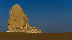 Egypt White Desert May 2012..The Farafra depression is the second biggest depression by size located in Western Egypt,  near latitude 27.06° North and longitude 27.97° East. It is located in the Western Desert of Egypt, approximately mid-way between Dakhla and Bahariya.
