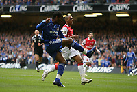 Photo: Rich Eaton.<br /> <br /> Chelsea v Arsenal. Carling Cup Final. 25/02/2007. Didier Drogba celebrates scores the equalizer for Chelsea
