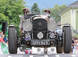 20.07.2017, Gröbming, AUT, Ennstal-Classic 2017, Start Prolog, im Bild Alexander Deopito und Florian Deopito, AT, Lagonda LG 6 Le Mans Special Bj. 1938 // during the Ennstal-Classic 2017 in Gröbming, Austria on 2017/07/20. EXPA Pictures © 2017, PhotoCredit: EXPA / Martin Huber