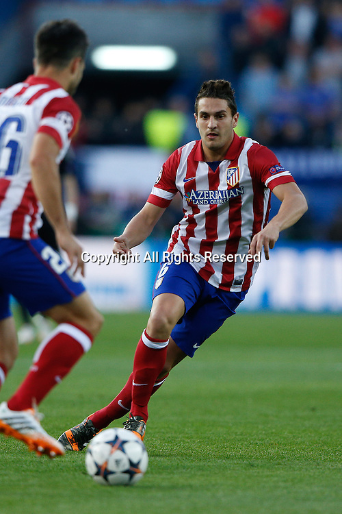 22.04.2014. Madrid, Spain. UEFA Champions League semi-final.  Atletico de Madrid versus Chelsea C.F. at Vicente Calderon stadium.  Jorge Resurreccion Koke (Spanish midfielder of At. Madrid)