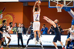 Tomas Kyzlink #7 of Helios Suns during basketball match between KK Helios Suns (SLO) and Bakken Bears (DEN) in Round #4 of FIBA Champions League 2016/17, on November 8, 2016 in Sports Hall Domzale, Slovenia. Photo by Vid Ponikvar / Sportida
