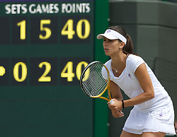 LONDON, ENGLAND - Tuesday, June 29, 2010: Tsvetana Pironkova (BUL) stands to receive a serve at 5-2 up in the second set during the Ladies' Singles Quarter-Final match on day eight of the Wimbledon Lawn Tennis Championships at the All England Lawn Tennis and Croquet Club. (Pic by David Rawcliffe/Propaganda)