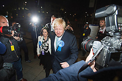 © London News Pictures. 07/05/2015. Mayor of London BORIS JOHNSON  arriving at at Uxbridge and South Ruislip election count, where he was elected as an MP. Ben Cawthra/LNP