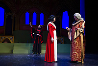 Dress rehearsal for Snow White a traditional english pantomime with the Winnipesaukee Playhouse.  Karen Bobotas for the Laconia Daily Sun