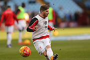 Liverpool defender Alberto Moreno  during the Barclays Premier League match between Aston Villa and Liverpool at Villa Park, Birmingham, England on 14 February 2016. Photo by Simon Davies.