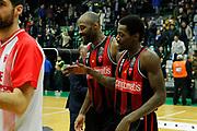 Clark Jason, Simmons Jeremy<br /> De'Longhi Treviso vs Openjobmetis Varese<br /> Legabasket SerieA 2019-2020<br /> Treviso (TV), 05/01/2020<br /> Foto  Ciamillo-Castoria <br /> Esultanza
