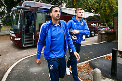 Liam Sercombe and Adam Smith of Bristol Rovers arrive at The Crown Oil Arena for the Sky Bet League One fixture with Rochdale - Mandatory by-line: Robbie Stephenson/JMP - 02/10/2018 - FOOTBALL - Crown Oil Arena - Rochdale, England - Rochdale v Bristol Rovers - Sky Bet League One