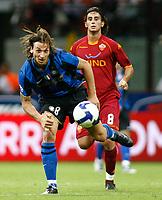 24-08-2008 Milano Italy sport calcio Inter-Roma Supercoppa Italiana 2008 nella foto : ibrahimovic aquilani   ph. Davide Elias / Agenzia Insidefoto