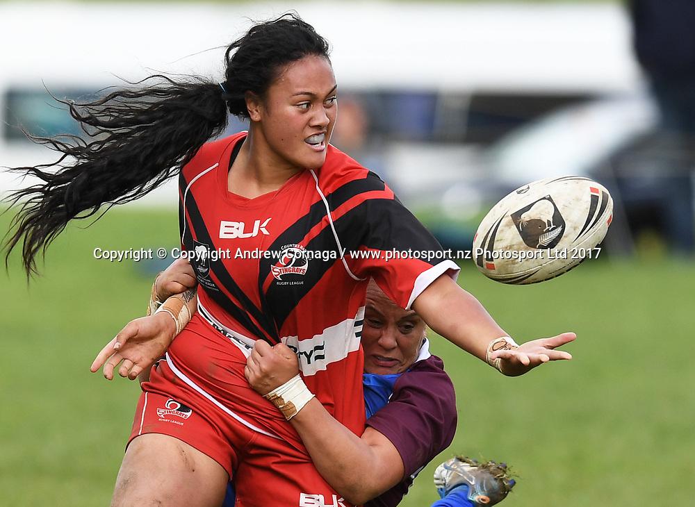 Akarana v Counties Manukau Grand Final. NZRL National Women's Tournament finals day, Cornwall Park Auckland. Monday 5 June 2019. © Copyright photo: Andrew Cornaga / www.photosport.nz