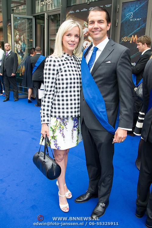 NLD/Amsterdam/20150620- Filmpremiere Code M, Suze Mens en partner Emiel de Sévrèn Jacquet