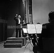 Rome 30-11-1956. Music composer Igor Stravinsky conducting / Roma 30-11-1956. Il compositore Igor Stravinskij mentre dirige - Marcello Mencarini Historical Archives