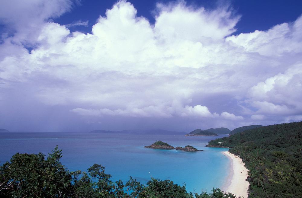 White sand beach, Trunk Bay, St. John, US Virgin Islands, Caribbean