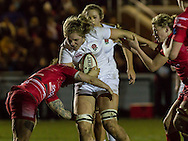 Zoe Aldcroft in action, Army Women v U20 England Women at the Army Rugby Stadium, Aldershot, England, on 16th February 2017. Final score 15-38.