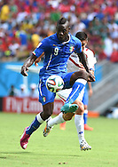 Mario Balotelli of Italy during the 2014 FIFA World Cup match at Itaipava Arena Pernambuco, Recife metropolitan area<br /> Picture by Stefano Gnech/Focus Images Ltd +39 333 1641678<br /> 20/06/2014