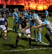 Captain Mark Bright in action with an amazing backdrop during the Green King IPA Championship match between London Scottish &amp; Worcester at Richmond, Greater London on 20th December 2014<br /> <br /> Photo: Ken Sparks | UK Sports Pics Ltd<br /> London Scottish v Worcester, Green King IPA Championship, 20th December 2014<br /> <br /> &copy; UK Sports Pics Ltd. FA Accredited. Football League Licence No:  FL14/15/P5700.Football Conference Licence No: PCONF 051/14 Tel +44(0)7968 045353. email ken@uksportspics.co.uk, 7 Leslie Park Road, East Croydon, Surrey CR0 6TN. Credit UK Sports Pics Ltd