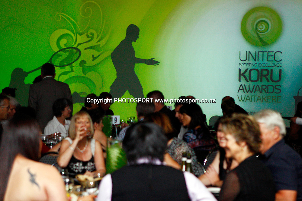 Unitec, Waitakere Sporting Excellence, Koru Awards. Genesis Lounge, Trusts Stadium, Waitakere City, Auckland, 27 November 2009. Photo: William Booth/PHOTOSPORT