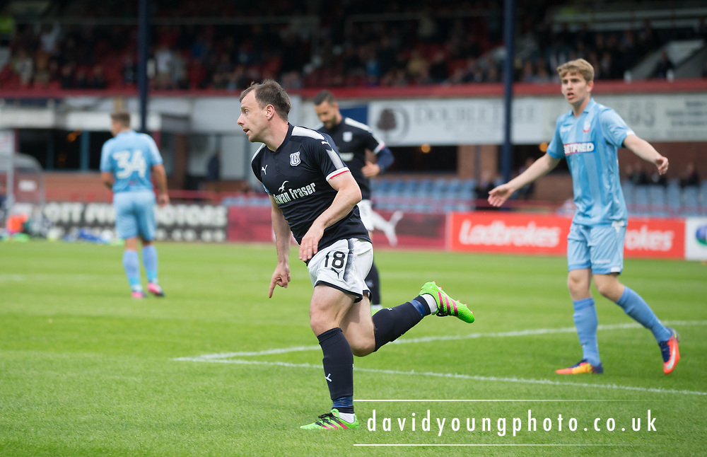 Dundee's Paul McGowan celebrates after scoring - Dundee v Bolton Wanderers pre-seson friendly at Dens Park, Dundee, Photo: David Young<br /> <br />  - © David Young - www.davidyoungphoto.co.uk - email: davidyoungphoto@gmail.com