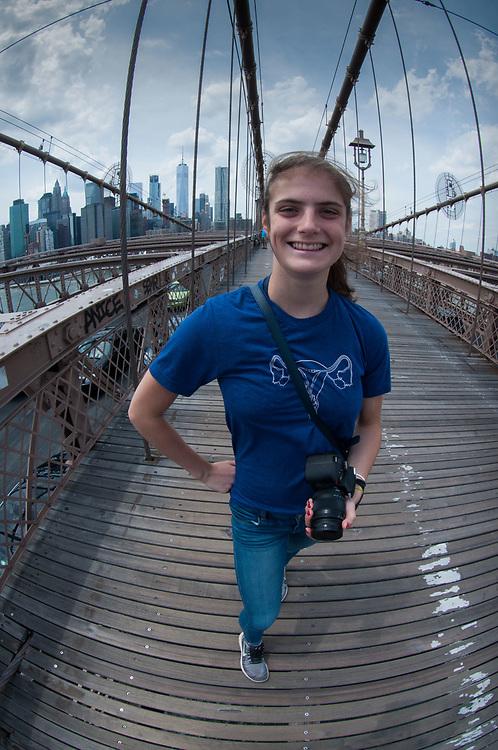 Eliza, Brooklyn Bridge, New York, US