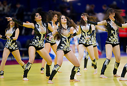 Cheerleaders during handball match between Croatia and Spain for 3rd place game at 10th EHF European Handball Championship Serbia 2012, on January 29, 2012 in Beogradska Arena, Belgrade, Serbia.  (Photo By Vid Ponikvar / Sportida.com)