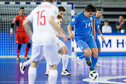 Douglas Junior of Kazakhstan during futsal match between Poland and Kazakhstan at Day 3 of UEFA Futsal EURO 2018, on February 1, 2018 in Arena Stozice, Ljubljana, Slovenia. Photo by Urban Urbanc / Sportida