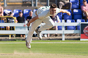 Gavin Griffiths bowling during the Specsavers County Champ Div 2 match between Glamorgan County Cricket Club and Leicestershire County Cricket Club at the SWALEC Stadium, Cardiff, United Kingdom on 17 September 2019.