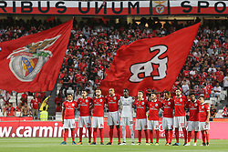 August 19, 2017 - Lisbon, Lisbon, Portugal - Benfica football players lineup for a minute of silence in memory of dead Portugal fire victims during the Premier League 2017/18 match between SL Benfica v CF Belenenses, at Luz Stadium in Lisbon on August 19, 2017. (Credit Image: © Dpi/NurPhoto via ZUMA Press)
