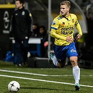 Voetbal Leeuwarden Eredivisie 2014-2015 SC Cambuur - PEC Zwolle: L-R Wout Droste van SC Cambuur Leeuwarden