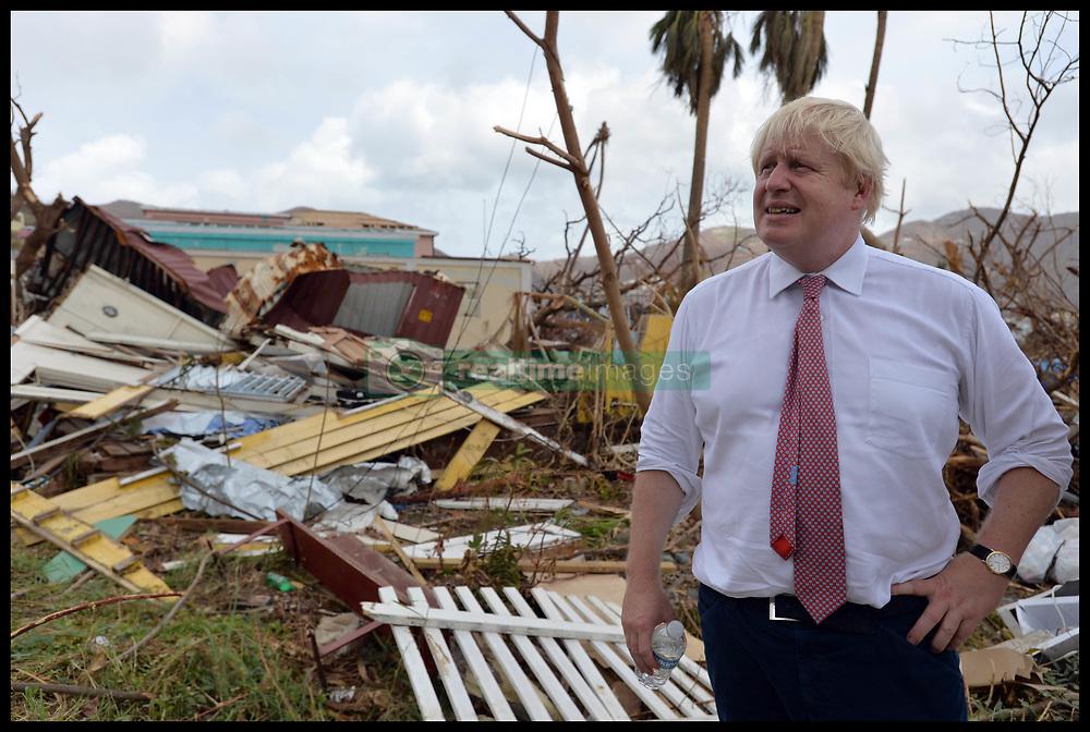 September 13, 2017 - Caribbean, Caribbean, Anguilla - UK Foreign secretary BORIS JOHNSON on the British Virgin Islands after Irma storm hit islands of British Virgin Islands and Anguilla which have been hit by Hurricane Irma.  (Credit Image: © Andrew Parsons/i-Images via ZUMA Press)