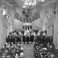 State Opening of the N Ireland Parliament, Stormont, Belfast, 22nd June 1971. The Queen is represented by the Governor of N Ireland, Lord Grey of Naunton, at the ceremony in the Great Hall.  This was the last State Opening as the N Ireland Parliament as it was suspended with the introduction of Direct Rule. It was subsequently abolished under the Northern Ireland Constitution Act 1973. 197106220270a<br /> <br /> Copyright Image from Victor Patterson, 54 Dorchester Park, Belfast, UK, BT9 6RJ<br /> <br /> Tel: +44 28 9066 1296<br /> Mob: +44 7802 353836<br /> Voicemail +44 20 8816 7153<br /> Skype: victorpattersonbelfast<br /> Email: victor@victorpatterson.com<br /> Email: victorpatterson@me.com (back-up)<br /> <br /> IMPORTANT: If you wish to use this image or any other of my images please go to www.victorpatterson.com and click on the Terms & Conditions. Then contact me by email or phone with the reference number(s) of the image(s) concerned.