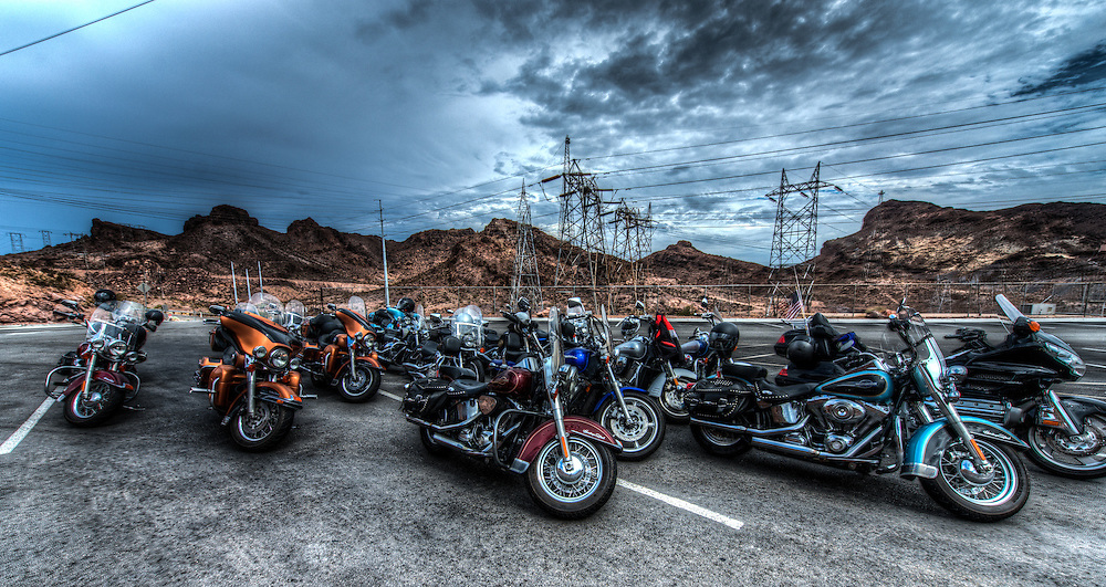 Bikes at the Hoover Dam parking