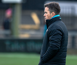 Head Coach Allen Clarke of Ospreys during the pre match warm up<br /> <br /> Photographer Simon King/Replay Images<br /> <br /> Guinness PRO14 Round 12 - Dragons v Ospreys - Sunday 30th December 2018 - Rodney Parade - Newport<br /> <br /> World Copyright © Replay Images . All rights reserved. info@replayimages.co.uk - http://replayimages.co.uk