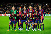 Equipe Barcelone - 10.12.2014 - Barcelone / Paris Saint Germain - Champions League<br />