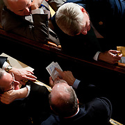 Republican rank-and-file members tally the votes of Republican dissenters to John Boehner's nomination for Speaker during the first session of the 113th Congress on Thursday, Jan. 3rd, 2013 in Washington.