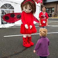 Ladybug Girl at 2017 Morristown Festival of Books Kidfest, Morristown, NJ, 10/14/17.