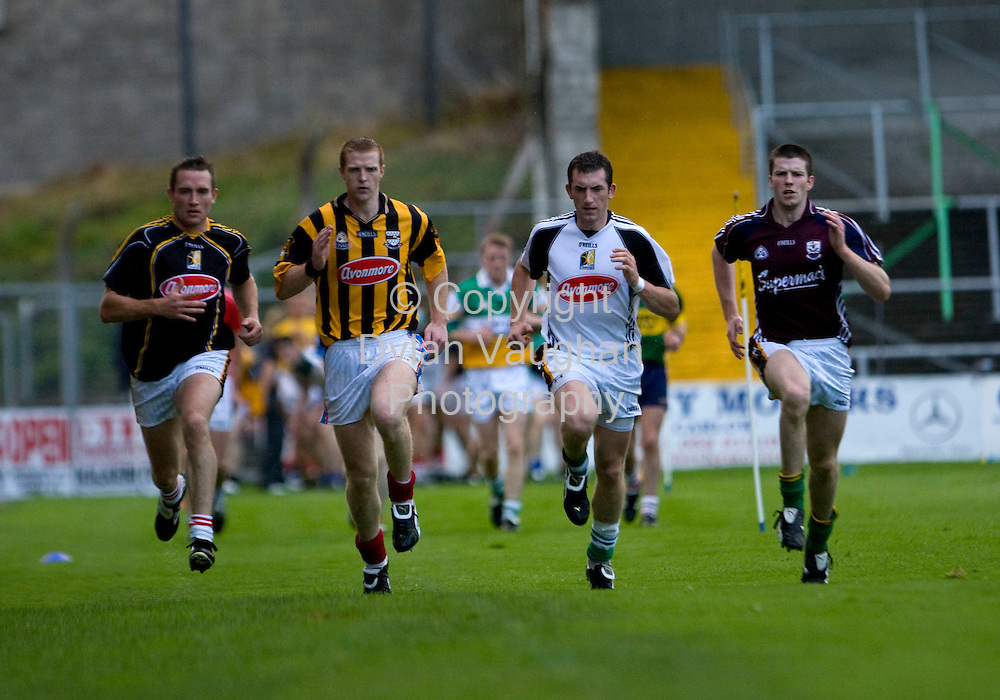 20/8/2008..From left Eddie Brennan, Henry Shefflin, Derek Lyng and Michael Rice pictured at the Kilkenny GAA media night training session at Nowlan Park..Picture Dylan Vaughan.