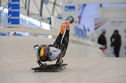 February 23, 2019 - Calgary, Alberta, Canada - Kim Meylemans (Belgium) competes during BMW IBSF SKELETON WORLD CUP Calgary Canada 23.02.2019 (Credit Image: © Russian Look via ZUMA Wire)