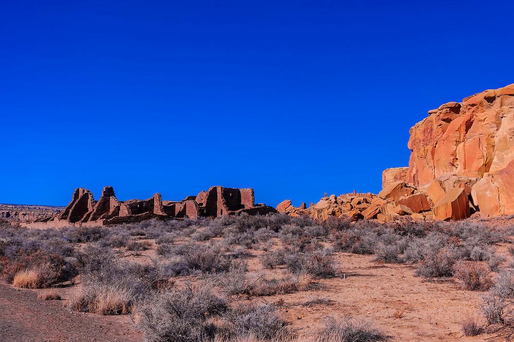 Pueblo Bonito, Chaco Culture National Historical Park (Chaco Canyon), New Mexico USA.