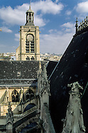 France. Paris. elevated view. Eglise Saint Laurent 75010 Paris. view from the spire