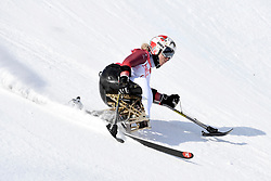 VICTOR Stephani LW12-2 SUI competing in the Para Alpine Skiing Downhill at the PyeongChang2018 Winter Paralympic Games, South Korea