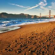 October sunset at San Francisco's Baker Beach.
