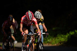Isabelle Beckers (Lotto Soudal) battles up the Cauberg at the 119 km Stage 6 of the Boels Ladies Tour 2016 on 4th September 2016 from Bunde to Valkenburg, Netherlands. (Photo by Sean Robinson/Velofocus).