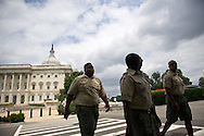 XAVIER MASCARENAS/TREASURE COAST NEWSPAPERS<br /> <br /> Members of Boy Scout Troop 772 visit Washington D.C. on Tuesday, July 22, 2014. The scouts spent time with Rep. Patrick Murphy and toured the Capitol during the first day of their three-day trip.