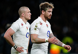 replacement Danny Cipriani looks dejected after England win the match but come up just 6 points short of winning the Six Nations Championship - Photo mandatory by-line: Rogan Thomson/JMP - 07966 386802 - 21/03/2015 - SPORT - RUGBY UNION - London, England - Twickenham Stadium - England v France - 2015 RBS Six Nations Championship.