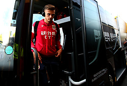Jamie Paterson of Bristol City arrives at Vicarage Road for his side's Carabao Cup Match against Watford - Mandatory by-line: Robbie Stephenson/JMP - 22/08/2017 - FOOTBALL - Vicarage Road - Watford, England - Watford v Bristol City - Carabao Cup