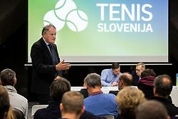 Marko Umberger during General Assembly of Slovenian Tennis Federation, on December 12, 2018 in Kristalna palaca, Ljubljana, Slovenia. Photo by Vid Ponikvar / Sportida