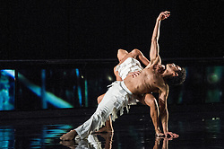 © Licensed to London News Pictures. 16/10/2012. London, UK. Sadler's Wells Theatre, London. Rambert Dance Company: Autumn Season. ..Picture shows: Labyrinth of Love, choreographed by Marguerite Donlan. Dancer: Dane Hurst. Photo credit: Tony Nandi/LNP