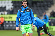 Forest Green Rovers Farrend Rawson(20) warming up during the EFL Sky Bet League 2 match between Forest Green Rovers and Coventry City at the New Lawn, Forest Green, United Kingdom on 3 February 2018. Picture by Shane Healey.